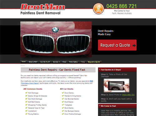 Dent Man Website Perth
